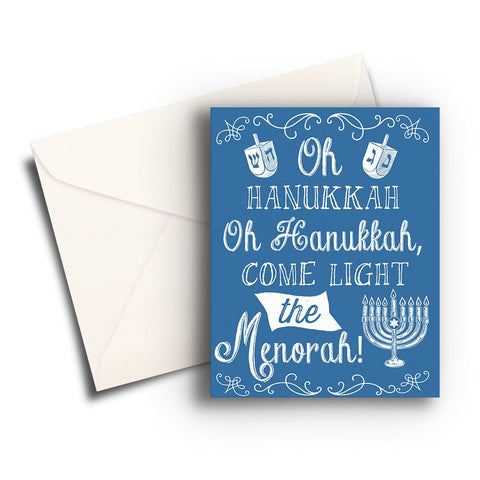 Light the Menorah Hanukkah Card
