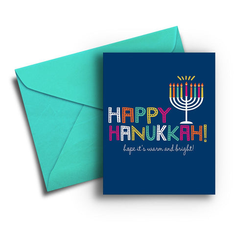 Warm & Bright Hanukkah Card