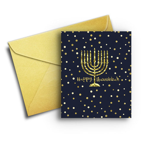 Gold Hanukkah Card