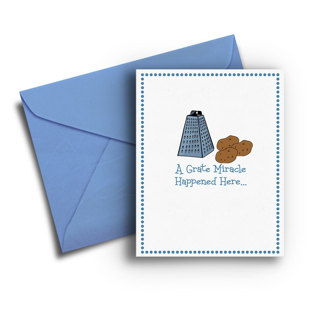 Grate Miracle Hanukkah Card - Fresh Frances Greeting Cards