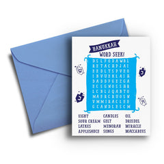 Word Seek Hanukkah Card