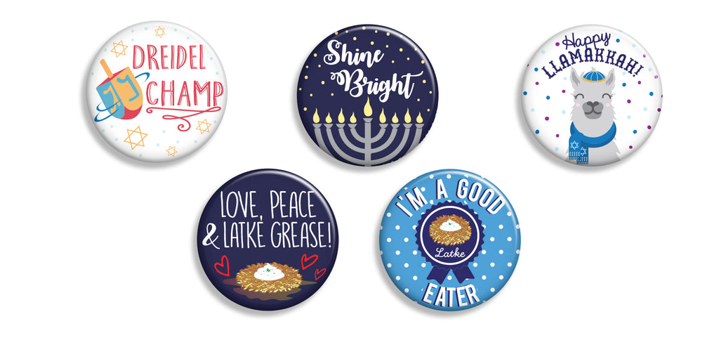 Hanukkah Buttons - Fresh Frances Greeting Cards