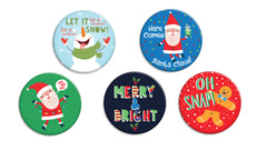 Here Comes Santa Claus Buttons - Fresh Frances Greeting Cards