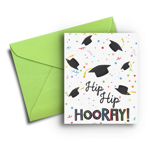 Hip Hip Hooray Graduation Card