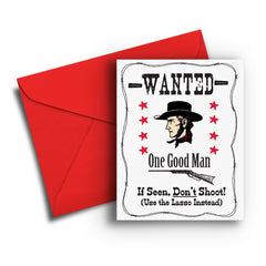 Wanted One Good Man Card - Fresh Frances Greeting Cards