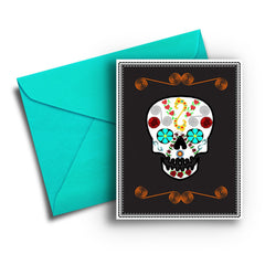 Sugar Skull Card - Fresh Frances Greeting Cards
