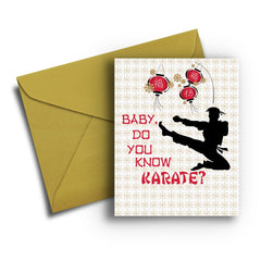 Know Karate Card - Fresh Frances Greeting Cards