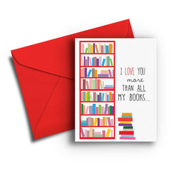 Love You More Than Books - Fresh Frances Greeting Cards