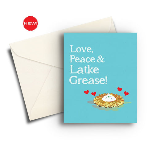Love, Peace & Latke Grease Card