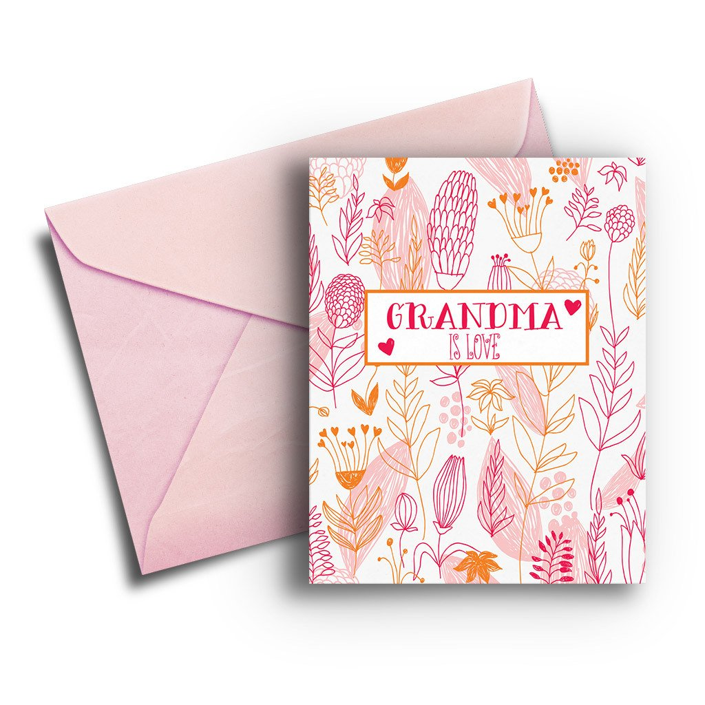 Grandma is Love Mother's Day Card - Fresh Frances Greeting Cards