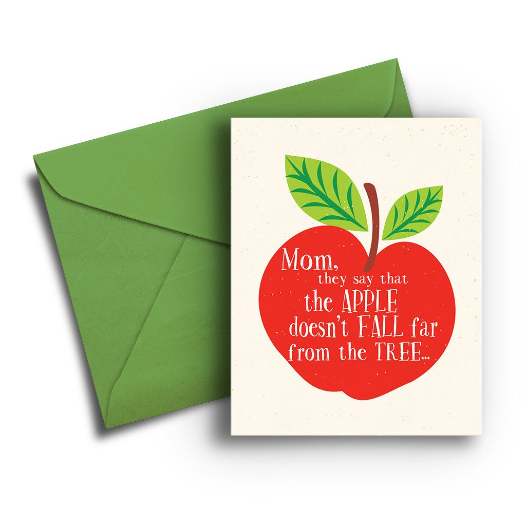 Apple Fall from Tree Card - Fresh Frances Greeting Cards