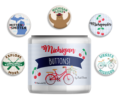 Michigan Button Jar - Fresh Frances Greeting Cards