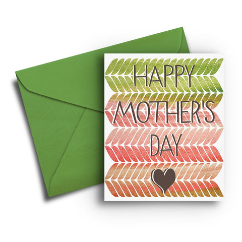 Watercolor Pattern Mother's Day Card