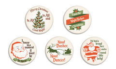 'Twas the Night Before Christmas Buttons - Fresh Frances Greeting Cards