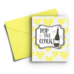 Pop the Cork Anniversary Card - Fresh Frances Greeting Cards