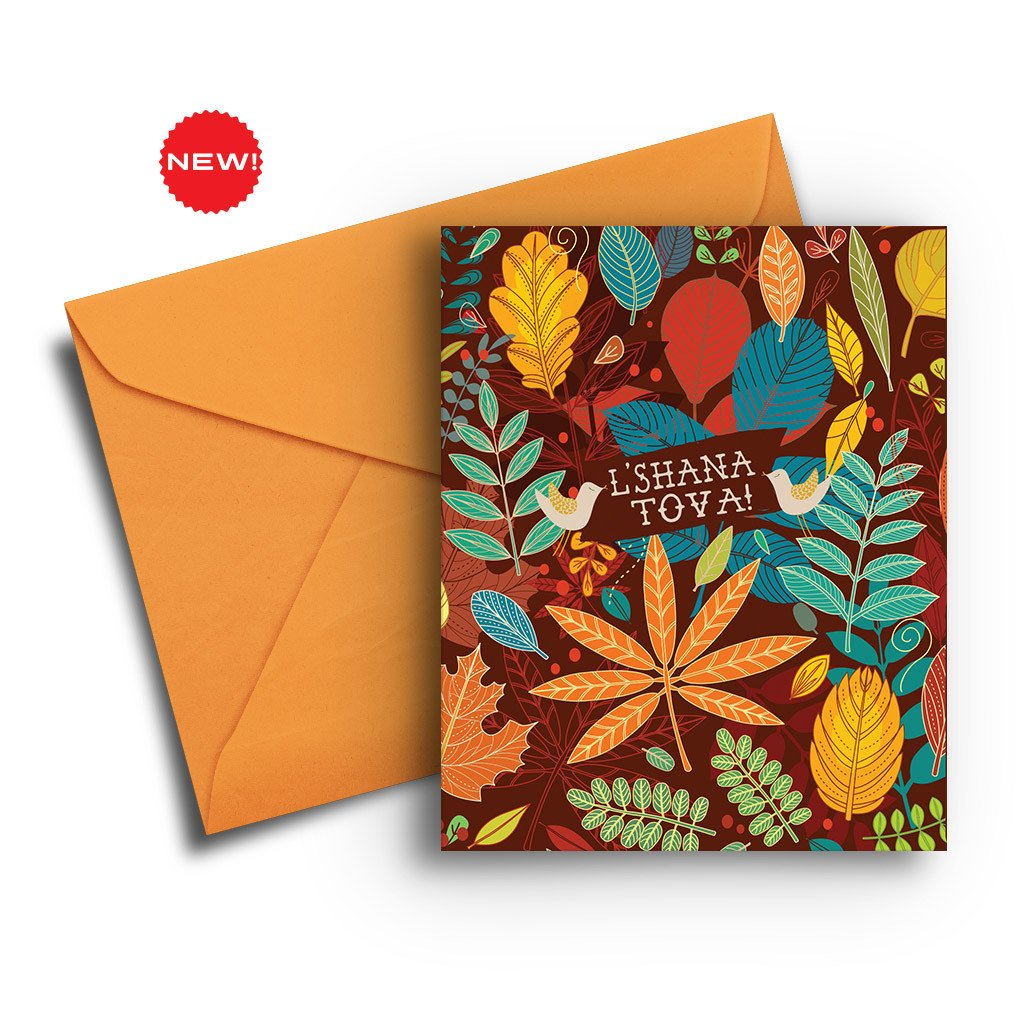 Leaves Jewish New Year Card - Fresh Frances Greeting Cards