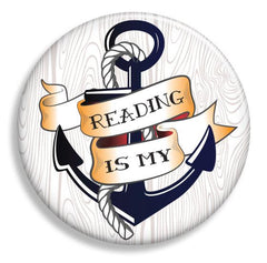 Reading is My Anchor Magnet - Fresh Frances Greeting Cards