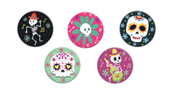 Sugar Skull Buttons - Fresh Frances Greeting Cards