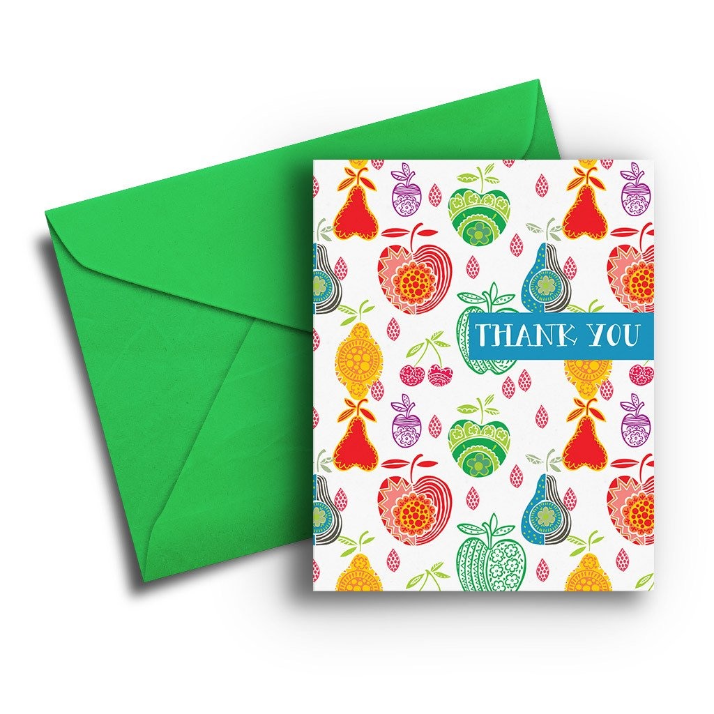 Cute Fruit Thank You Card - Fresh Frances Greeting Cards
