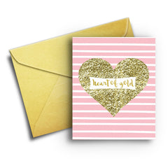 Heart of Gold - Fresh Frances Greeting Cards