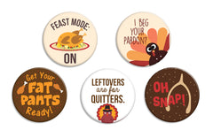 Thanksgiving Buttons - Fresh Frances Greeting Cards