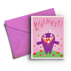 Monster Love Valentine Card - Fresh Frances Greeting Cards
