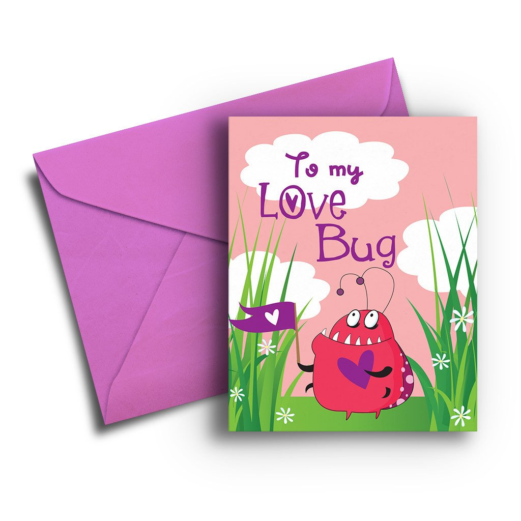 Love Bug Valentine Card - Fresh Frances Greeting Cards