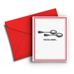Wanna Spoon Love Card - Fresh Frances Greeting Cards