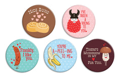 Love Pun Buttons - Fresh Frances Greeting Cards