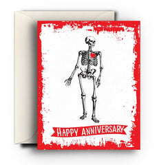 Let's Bone Anniversary Card - Fresh Frances Greeting Cards