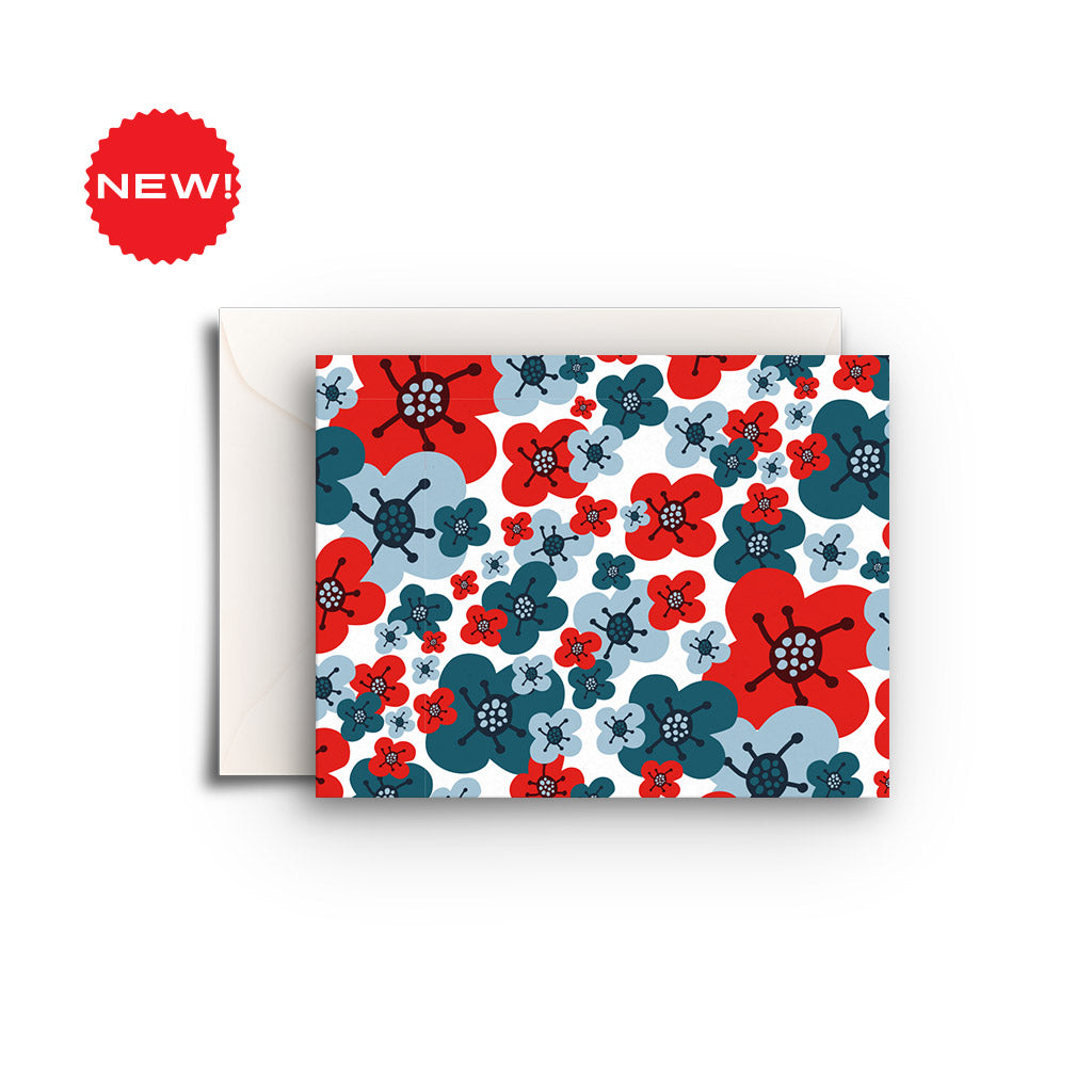 Blue & Red Flowers Gift Enclosure