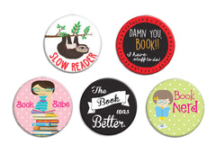 Book Buttons - Fresh Frances Greeting Cards