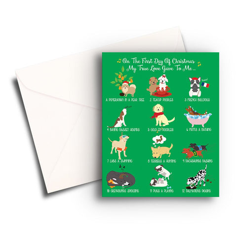12 Dogs of Christmas Card