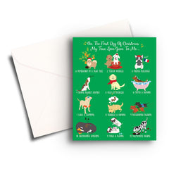12 Dogs of Christmas Card - Fresh Frances Greeting Cards