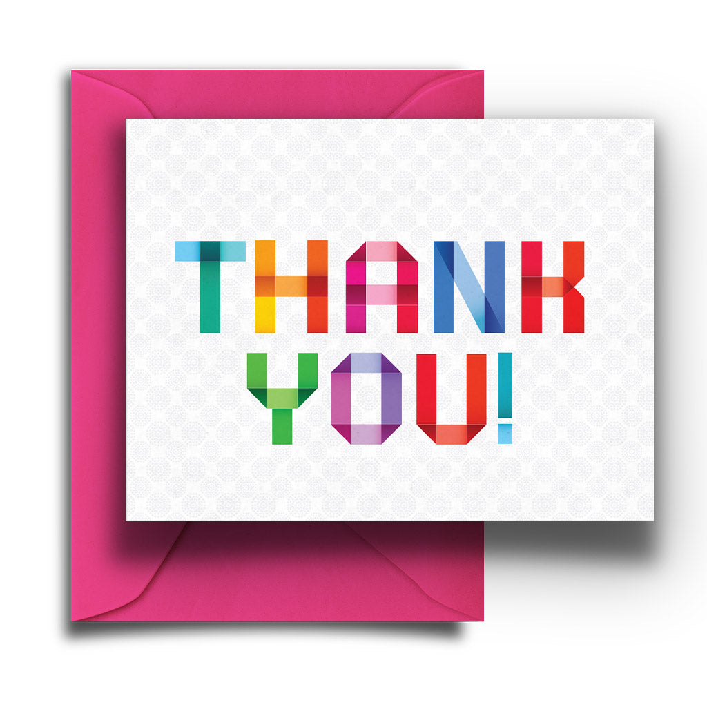 Colorblock Thank You Boxed Notes