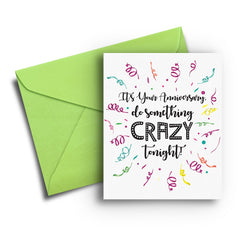 Crazy Anniversary Card - Fresh Frances Greeting Cards