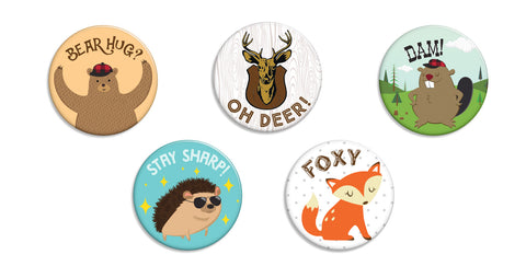 Forest Friends Buttons