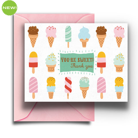 Ice Cream Thank You Boxed Notes