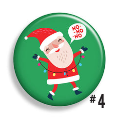 Here Comes Santa Claus Buttons