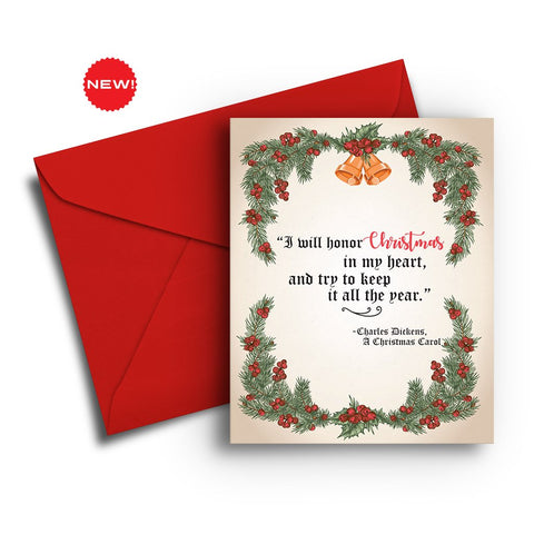 Honor Christmas in my Heart Card