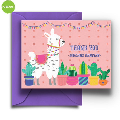 Llama Thank You Boxed Notes