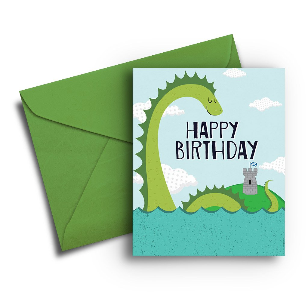 Loch Ness Monster Birthday Card - Fresh Frances Greeting Cards