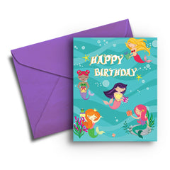 Magical Mermaid Birthday Card - Fresh Frances Greeting Cards