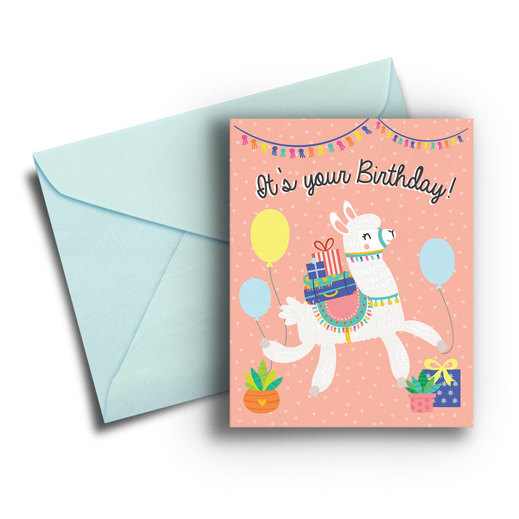 Llama Wish You Birthday Card