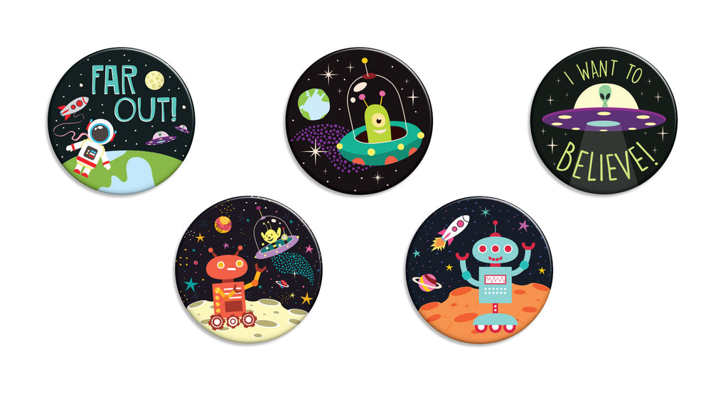 Out of This World Buttons - Fresh Frances Greeting Cards