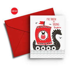 I've Taken a Viking to You - Fresh Frances Greeting Cards