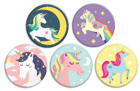 Sparkling Unicorn Buttons