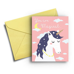 Magical Unicorn Thank You Card - Fresh Frances Greeting Cards