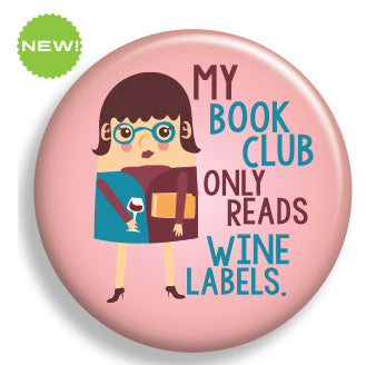 Book Club Wine Label Magnet