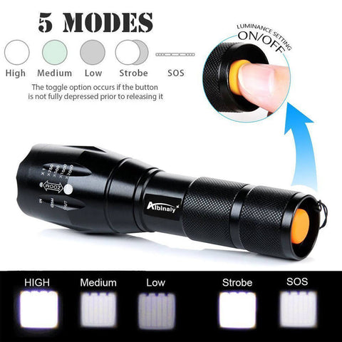 NightLife™ Zoomable Tactical LED Flashlight With 5000LM - 50% Off Today